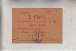 NOTGELD - MÜHLHAUSEN / Thüringen, 2 Mark, 1914, Erhaltung I - Lokale Ausgaben