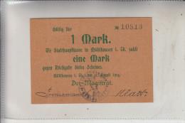 NOTGELD - MÜHLHAUSEN / Thüringen, 1 Mark, 1914, Erhaltung I - Lokale Ausgaben