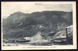 CPA  ANCIENNE- FRANCE- L'ARGENTIERE-LA-BESSÉE (05)- LES USINES EN GROS PLAN - L'Argentiere La Besse