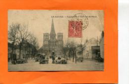 LE HAVRE   1910  EGLISE SAINT VINCENT DE PAUL AVEC LE MARCHE   CIRC   OUI  EDIT - Andere