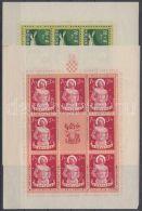 Croatia Stamp War Wounded Minisheet Set MNH 1944 Mi 154-157 WS145840 - Croacia