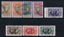 Liechtenstein: 1928 Mi Nr 82 - 89   Used, Signed/ Signé/signiert/ Approvato  Cv € 1000 - Liechtenstein