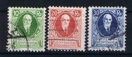 Liechtenstein: 1925 Mi Nr 72 - 74  Used, - Gebruikt