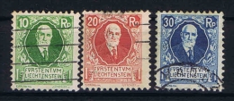 Liechtenstein: 1925 Mi Nr 72 - 74  Used, - Liechtenstein