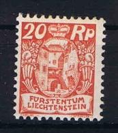 Liechtenstein: 1925 Mi Nr 70 MH/* Slightly Discolored - Unused Stamps