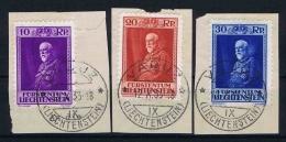Liechtenstein: 1933  Mi Nr 122-124  Used Nice Cancels Vaduz - Liechtenstein