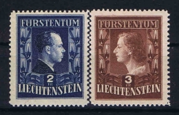 Liechtenstein: 1951  Mi Nr 304-305 A  MNH/**  12 X 12,5 Perforation. - Liechtenstein