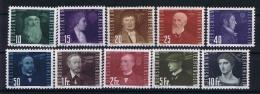 Liechtenstein: 1948  Mi Nr 257 - 266 MNH/** - Luchtpostzegels