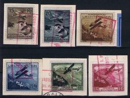 Liechtenstein: 1930  Mi Nr 108 - 113 Used - Luftpost