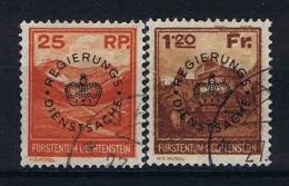 Liechtenstein: 1933 Dienstmark  Mi Nr 9 - 10 Used - Dienstzegels