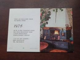 """Hotel Restaurant """" LA CLE DES CHAMPS """" ( Houfalizze ) ( 1976 ) ( Zie Details Foto ) ! - Calendriers"""