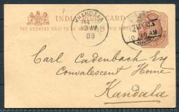 1903 India Stationery Postcard - Khandala Re S/S Capri Hong Kong Singapore Navigazione Generale Italiana - India (...-1947)