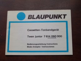 BLAUPUNKT Bedienungsanleitung / Mode D'emploi / Instructions TWEN Junior 7 614 060 000 ( Zie Foto´s Voor Details ) ! - Cassettes Audio