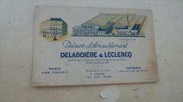 VELOURS D'AMEUBLEMENT.........DELAROIERE ET LECLERCQ... - Cartes De Visite
