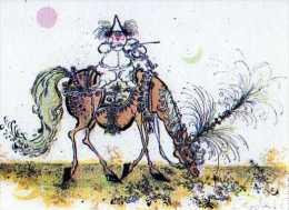 Ronald SEARLE Entr'acte, Nouvelles Images 1982, Clown Blanc Violoniste A Cheval - Other Illustrators