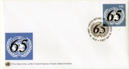 2010 ONU - 65 Ann. Amministrazione Postale - FDC - New-York - Siège De L'ONU