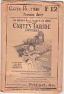 Carte Routière TARIDE N°12 TOURAINE - BERRY Sur Papier Simili Japon - Cartes Routières