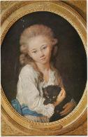 Eugenie De Baculard D' Arnaud Et Chat Noir Par Greuze Né A Tournus  Black Cat - Katten