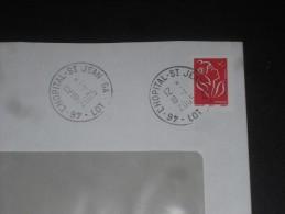 L HOPITAL SAINT JEAN GA - LOT - CACHET ROND MANUEL SUR MARIANNE LAMOUCHE - - Poststempel (Briefe)