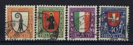 Switserland Schweiz: 1923 Mi 185  - 188 Used - Used Stamps