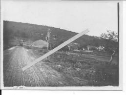 Région De Cernay Occupation Allemande Place Du  Village 1 Photo Tirée Sur Papier Carte Photo 14-18 1914-1918  Ww1 WwI Wk - War, Military