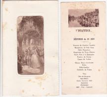 2 Menus  Dont 1 4 Novembre 1939 Scène De Mariage Dans Au XIX Em Dans La Noblesse - Menú