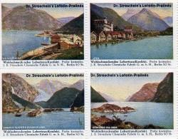 4 Vignettes Thème  (Paysages   Lacs  ) - Erinnofilia