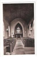 Martlesham Church INTERIOR Nr Ipswich Suffolk  OLD Postcard