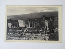 AK / Bildpostkarte 1930 Taormina Teatro Greco Con Veduta Dell'Etna. Ediz. Giuseppe Attanasio - Italië