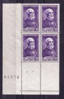 BLOC DE QUATRE  N* 749 ( Numéroté 04970) NEUF** - Unused Stamps