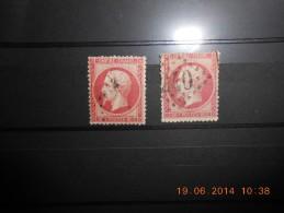 Lot Du 19.06.14-37-tres Beau Lot De N°24 A Voir!!,variété Nuance Et Obliteration;cote 250€ - 1862 Napoleon III