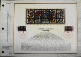 FEUILLET C.E.F 1er JOUR 1981 - Croix-Rouge Française - Audincourt Et Argentan Le 5.12.1981 - Tirage Sur Soie Numéroté - Documents De La Poste