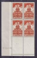 BLOC DE QUATRE  N* 751 ( Numéroté 95585) NEUF** - Unused Stamps
