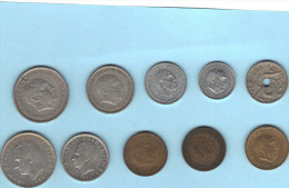 Espagne , 10 Pièces De Monnaie Différentes . 1957 à 1982 . - Espagne