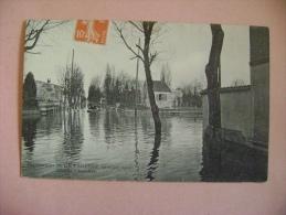 CP LA VARENNE  INONDATIONS (JANVIER 1910) AVENUE CHEVALIER - ECRITE EN 1910 - Saint Maur Des Fosses
