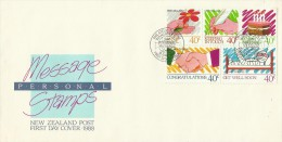 New Zealand 1988 Personal Message Stamp FDC - FDC