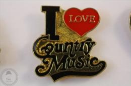 I Love Country Music - Pin Badge #PLS - Música