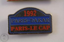 1992 Paris - Dakar - Paris - Le Cap  - Pin Badge #PLS - Rallye
