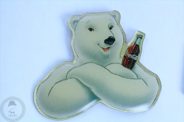 White Polar Bear With Coke Bottle - Coca Cola Pin Badge #PLS - Coca-Cola
