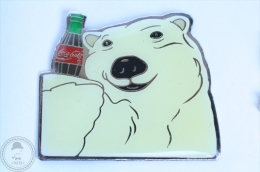 Large White Coca Cola Polar Bear Pin - Coca Cola Pin Badge #PLS - Coca-Cola