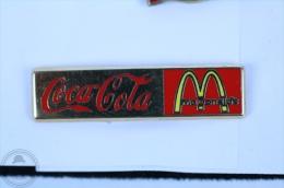Coca Cola & Mc Donalds Advertising - Pin Badge #PLS - Coca-Cola