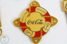Coca Cola Retro/ Vintage Welcome Aboard - Pin Badge #PLS - Coca-Cola