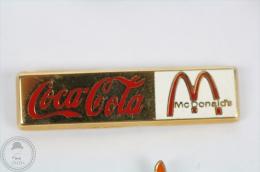 Coca Cola & McDonald´s Golden Colour - Pin Badge #PLS - Coca-Cola