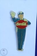 Coca Cola Retro/ Vintage Policeman Stop  - Pin Badge #PLS - Coca-Cola