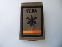 Fourreau Du 57 RA Batterie Orange - Scudetti In Tela