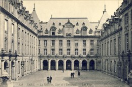 CPA - PARIS, La Sorbonne, Cour De L´Université - 2 Scans - Education, Schools And Universities