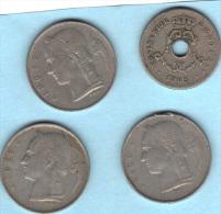 Belgique . 4 Pièces De Monnaie Différente De 1905 ,1950 , 1958 , 1963. - Belgique