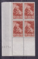 BLOC DE QUATRE  N* 753 ( Numéroté 88274) NEUF** - Unused Stamps