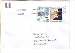 GOOD FRANCE Postal Cover To ESTONIA 2014 - Good Stamped: Cartoon - France