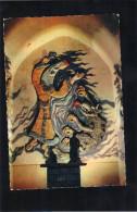 Eglise De Sainte - Enimie ...et Le Drac.Victoire Du Bien Sur Le Mal , De La Foi Sur L'Erreur. Céramique D'Henri Constans - France